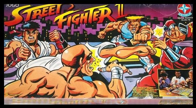 O jogo de tabuleiro de Street Fighter II da Estrela