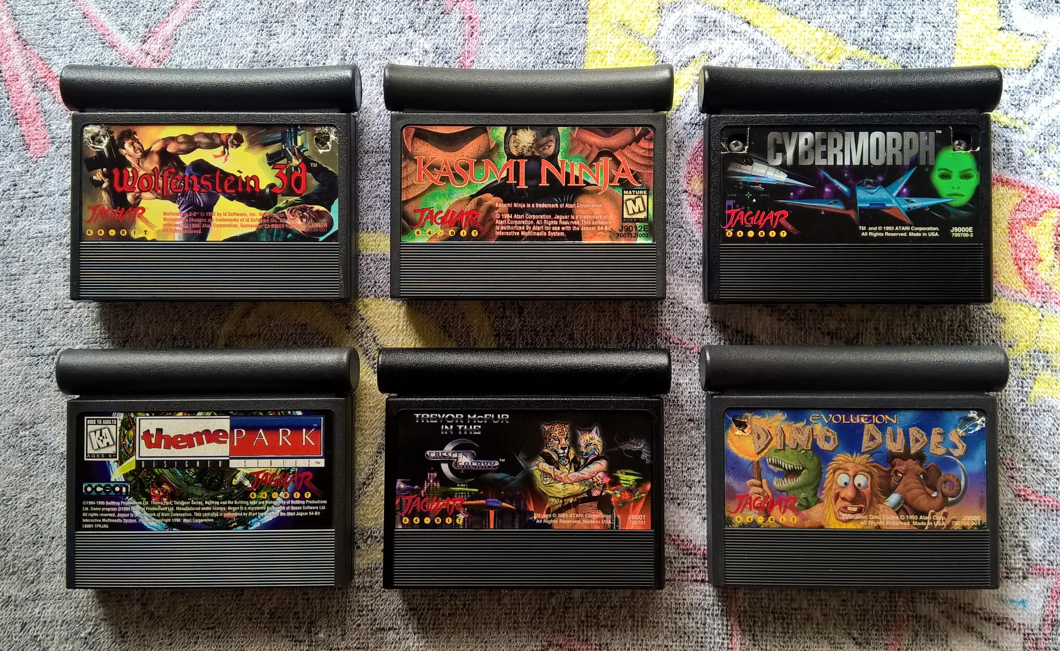 Meus cartuchos de Atari Jaguar