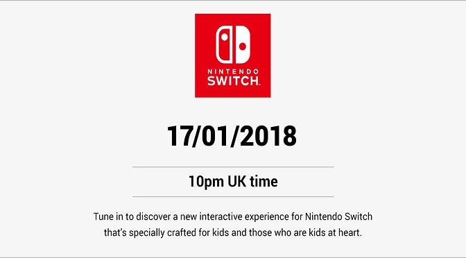Novidades para o Nintendo Switch hoje (17/01/18)